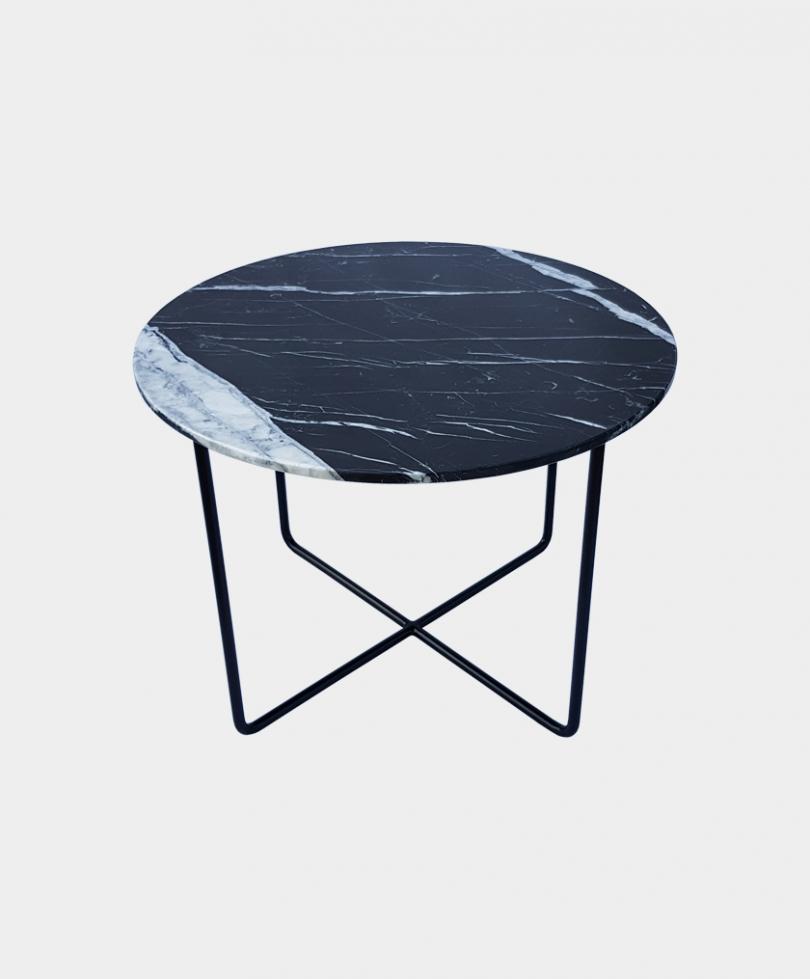 Stolik Marmurowy Okrągły SMO01 Black-1340×785