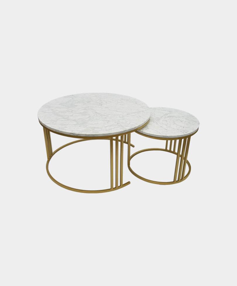 Komplet stolików Kawowych Marmurowych-1340×785
